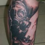 Gas mask Leg